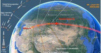 Region możliwego upadku Progressa MS-04 / Credits - Russian Space Web