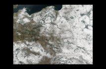 Polska z orbity - zima 2003 roku / Credits - NASA