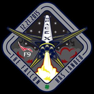 Logotyp misji SpaceX z grudnia 2015 roku. Źródło: SpaceX