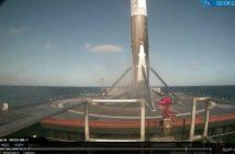 Tuż po lądowaniu - pierwszy stopień Falcon 9R na platformie morskiej - 14.01.2017 / Credits - SpaceX