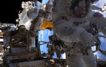 Astronautka Peggy Whitson (NASA) podczas spaceru kosmicznego EVA-38 / Źródło: NASA