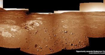 Zdjęcia otoczenia łazika Opportunity wykonane 25 grudnia 2016 roku (sol 4593) za pomocą kamery nawigacyjnej. Źródło: NASA/JPL/Cornell/Ken Kremer/kenkremer.com