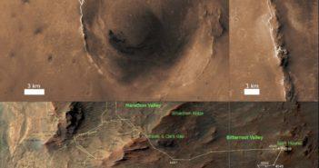 13 lat jazdy łazika Opportunity po powierzchni Marsa. Powyższa mapa przedstawia całą, 43-kilometrową podróż po Czerwonej Planecie.