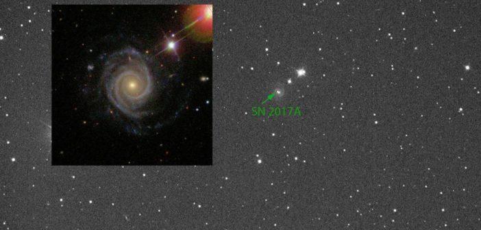 Z włoskiego nieba do Polski – supernowa SN2017A
