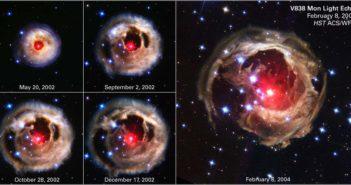 Ekspansja otoczki wokół V838 Monocerotis / Credits - NASA, ESA, H.E. Bond (STScI), Hubble Heritage Team (STScI/AURA)