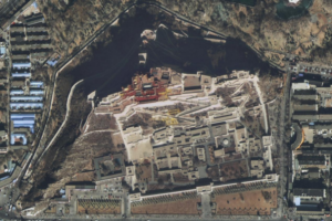 Buildings of the Potala Palace in Lhasa, Tibet, as observed by one of the SuperView 1 satellites. Credit: Beijing Space View