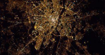 Warszawa z orbity