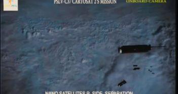 Separacja CubeSatów z lotu PSLV-XL / Credits - ISRO
