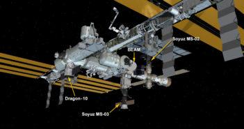 Aktualny wygląd ISS po dotarciu Dragona CRS-10 / Credits - NASA