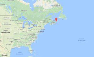 Proponowana lokalizacja kanadyjskiego portu kosmicznego. Źródło: Google Maps