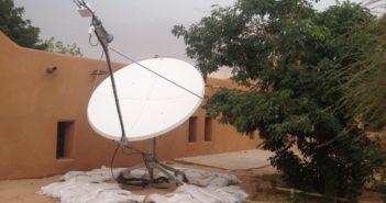 Stacja łączności satelitarnej dostarczona przez Airbus D&S dla Unijnej misji w Afryce / Credit: Airbus D&S