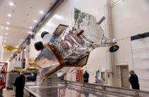 Satelita WorldView-4 w czasie przygotowań do startu / Źródło: Lockheed Martin
