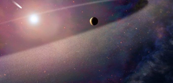 Hubble odkrywa większą wersję Komety Halleya rozrywaną przez białego karła