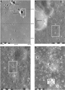 Miejsce po uderzeniu sondy Chang'e -1 / Credits - NASA, Phil Stooke