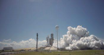 Test silników pierwszego stopnia Falcona 9R - 27 marca 2017 / Credits - SpaceX