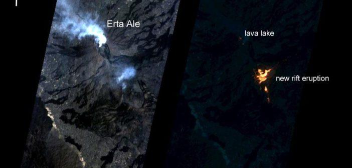 Obraz Erta Ale z EO-1 / Credits - NASA, JPL
