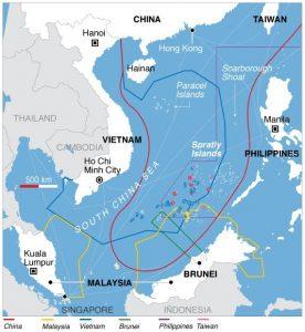 Spór terytorialny na Morzu Południowochińskim / Credits - domena publiczna
