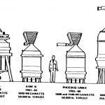 Rodzina silników jądrowych w ramach projektu Rover / Credits - NASA
