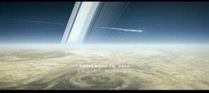 Animacja końca misji Cassini - sonda płonie w górnych warstwach Saturna / Credits - NASA
