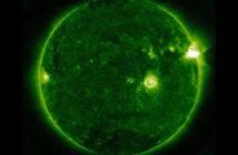 Na 4 minuty przed fazą maksymalną rozbłysku klasy M5.7 / Credits - NASA, SDO