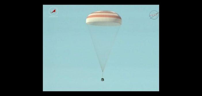 Lądowanie Sojuza MS-02 / Credits - NASA TV