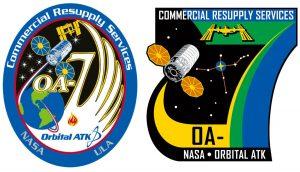 Logotypy misji OA7 / Źródło: Orbital ATK i NASA