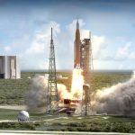 Wizualizacja startu SLS / Credits: NASA/MSFC