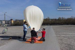 Napełnianie balonu do misji PL-4 MOKOSZ / Credits - Arkadiusz Papaj, stratosferyczna Polska