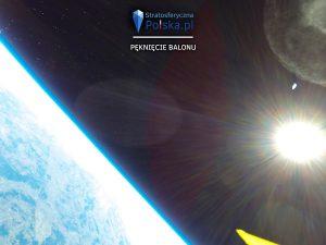 Pęknięcie balonu misji PL-4 MOKOSZ / Credits - Arkadiusz Papaj, stratosferyczna Polska