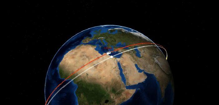 Jedno ze zbliżeń NROL-76 do ISS - 3 czerwca 2017 / Credits - Marco Langbroek