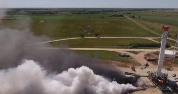 Udany test głównego stopnia Falcon Heavy