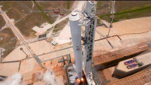 Próbne odpalenie silników pierwszego stopnia Falcona 9 / Credits - SpaceX