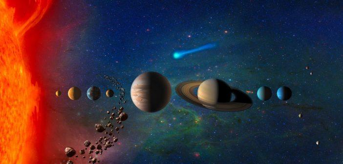 Grafika prezentująca mnogość celów do eksploracji w Układzie Słonecznym / Credits - NASA