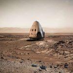 Kapsuła Red Dragon na powierzchni Marsa / SpaceX