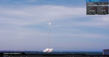 Start Falcona 9R z BulgariaSat-1 / Credits - SpaceX