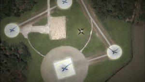Jedna z animacji lądujących w LZ-1, gdzie jest kilka lądowisk / Credits - SpaceX