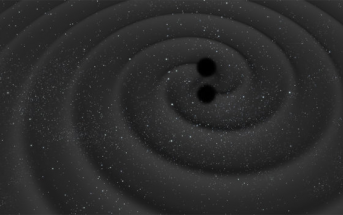 Fuzja dwóch czarnych dziur / Credits - ESA