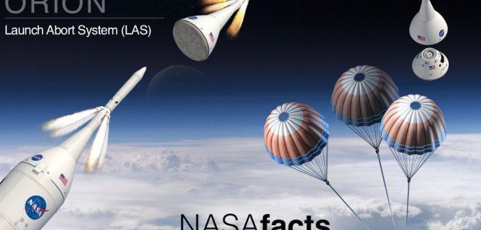 System ratunkowy LAS dla kapsuły MPCV Orion / Credits - NASA