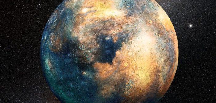 """Wizja artystyczna skalistej """"Planety 10"""" / Credits - Heather Roper/LPL"""