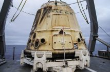 Kapsuła Dragon CRS-11 po lądowaniu / Credits - SpaceX