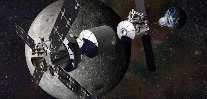 Wizja artystyczna Deep Space Gateway / Credits: NASA/Lockheed Martin