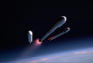 Falcon Heavy, wizja artysty / Credit: SpaceX