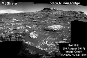 Zdjęcie z 10 sierpnia, wykonane po pierwszej jeździe łazika od 13 lipca 2017 / Credits - NASA, JPL