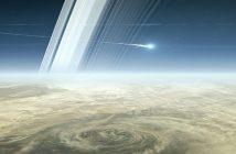 Sonda Cassini wchodzi w atmosferę Saturna - wizualizacja / Credits - NASA