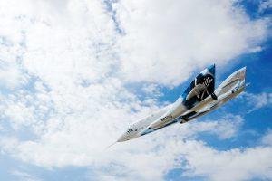 SpaceShipTwo podczas lotu ślizgowego z 4 sierpnia 2017 / Virgin Galactic