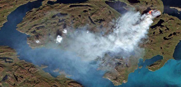 Na Grenlandii wybuchły dwa pożary torfowisk