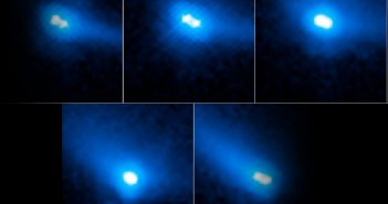 Obrazy 2006 VW139 uzyskane z HST / Credits - NASA, ESA, and J. Agarwal (Max Planck Institute for Solar System Research)