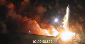 Trzy testy członów Falcona Heavy zakończone