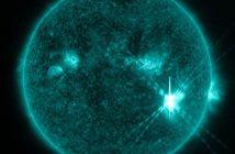 Tuż przed fazą maksymalną rozbłysku klasy X9.3 - 06.09.2017 / Credits - NASA, SDO