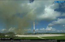 Pierwszy stopień Falcona 9R po lądowaniu / Credis - SpaceX